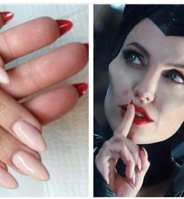 Maleficent nails! #halloween #halloweennails #Maleficent