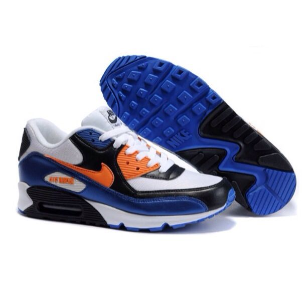 Ken Griffey Shoes Nike Air Max 90 White Blue Orange Black [Nike Air Max 90  - Extremely excellent Nike Air Max 90 White Blue Orange Black kicks with ...