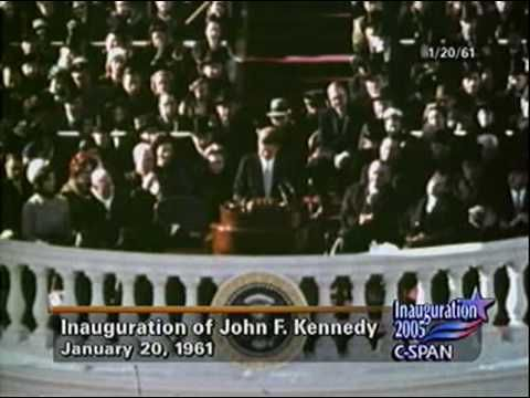"""50 years ago, on January 20th, 1961, John F. Kennedy was inaugurated as the 35th President of the United States and he delivered his famous Inauguration Speech encouraging Americans to: """"Ask not what your country can do for you - ask what you can do for your country""""."""
