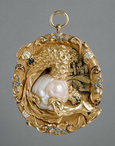 Hercules Pendant. French, Paris, about 1540. Gold, enamel, and a baroque pearl |