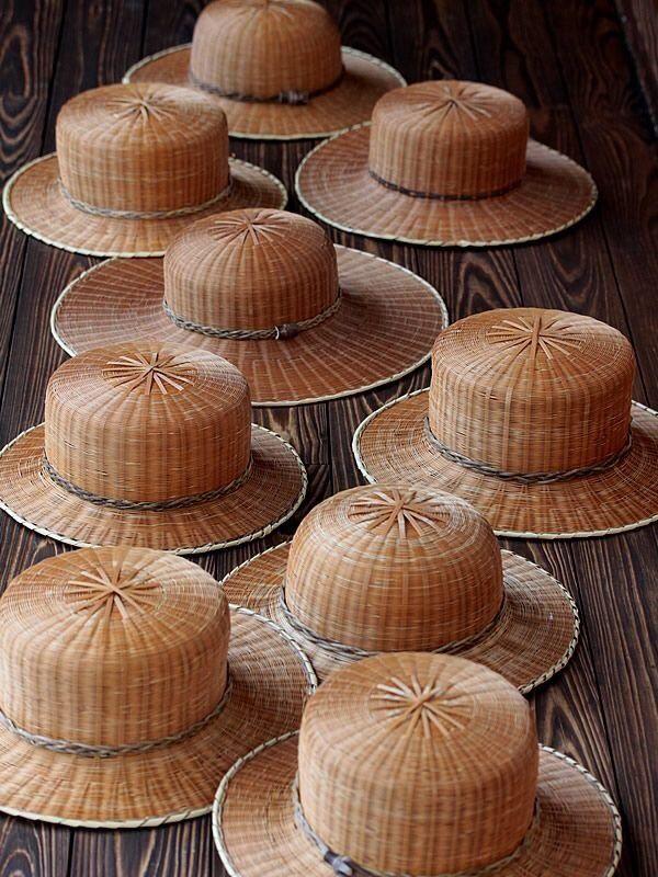 Wabisabimind Hat Made By Bamboo Japan Bamboo Hats Bamboo Hat Bamboo Weaving