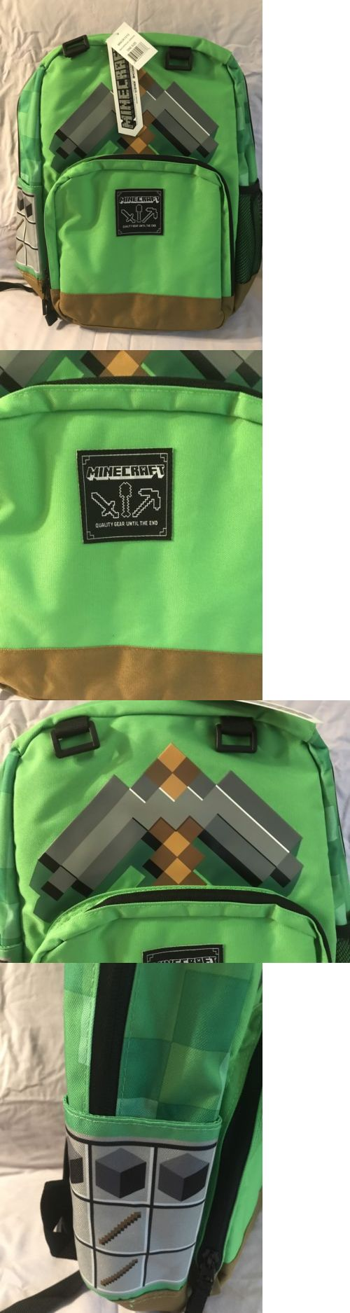 Backpacks and Bags 57882: Minecraft 17 Pickaxe Adventure School Backpack Nwt -> BUY IT NOW ONLY: $31.98 on eBay!