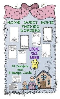 This bundle has 21 pages of Home Sweet Home themed borders with writing lines on LEGAL SIZE PAPER for maximum writing space!  This includes all borders without writing lines to use for parent notes, word puzzles etc.  You also get 4 half-size borders for writing recipes from home!  All black & white. Designs include, Log Cabin, Gingerbread House, Teepee, Igloo, Hut and MORE! K, 1, 2, 3, 4, 5, 6 Homeschool $ For all my lessons, follow me at…