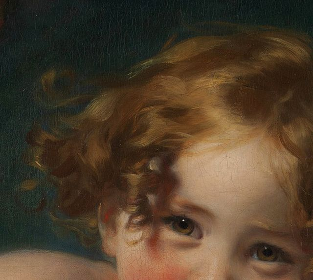 Sir Thomas Lawrence 'The Calmady Children' (detail) c.1824 by Plum leaves, via Flickr