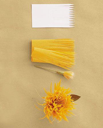 Flores de papel crepom no blog Detalhes Magicos 10.spider                                                                                                                                                     Mais