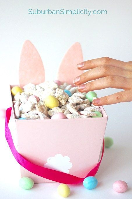 Cute and easy Easter treats kids can make themselves: Bunny Chow at Suburban Simplicity