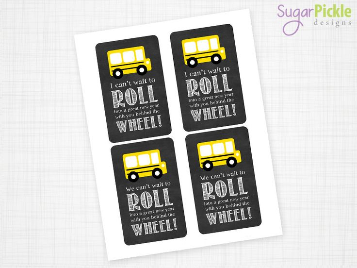 Bus Driver Appreciation Gift Tag Bus Driver by SugarPickleParty