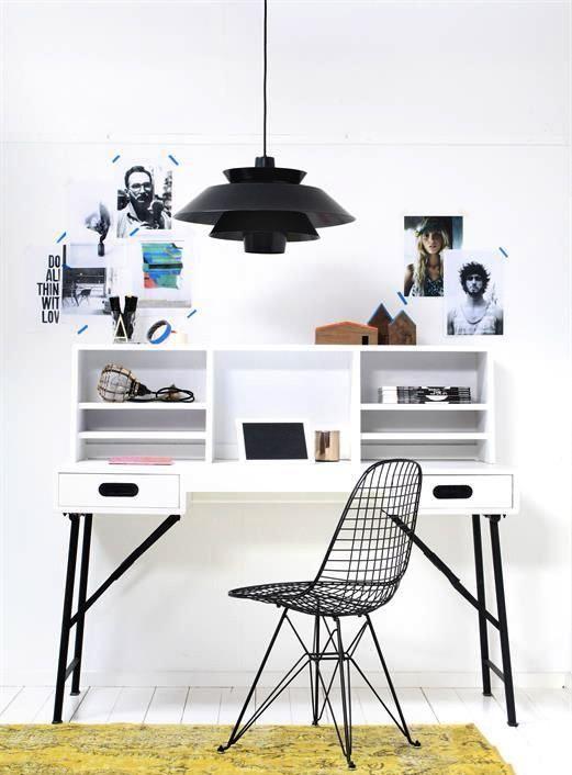 Via Interior Junkie | Home Office | PH Lamp | Eames Chair