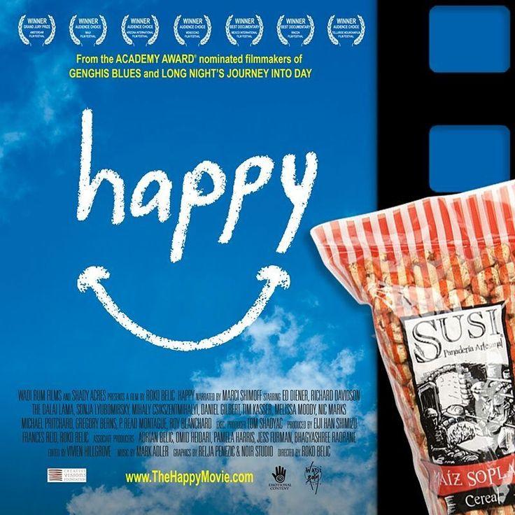 """Hoy en #ViernesDePelícula con #Susi, te recomendamos """"Happy"""" un documental que analiza la felicidad, y cómo ésta difiere de una cultura a otra, lo que puedes hacer para ser más feliz, más saludable y estar más satisfecha con tu vida diaria. Lo encuentras en Netflix. #SusiPanaderíaArtesanal    #SnackSaludable #Susi #Granola #Pan #Panadería #ComidaSaludable #Cereales #Yummy #Tasty #TradiciónAlemana #Sano #Natural #HealthyFood #NutriciónCreativa #Gluten #Light"""