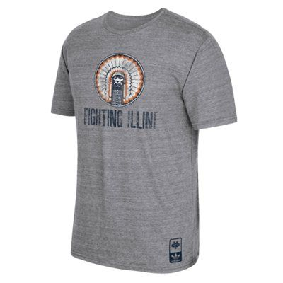Illinois Fighting Illini adidas Originals Tri-blend T-Shirt – Gray