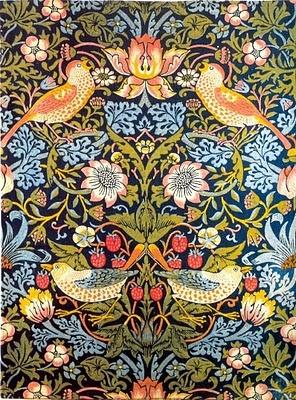 William Morris, Strawberry Thief furnishing Textile, 1883