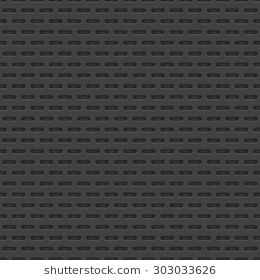 Technology vector geometric perforated material seamless dark grey background for applications, web user interfaces, internet sites, business. Abstrac…