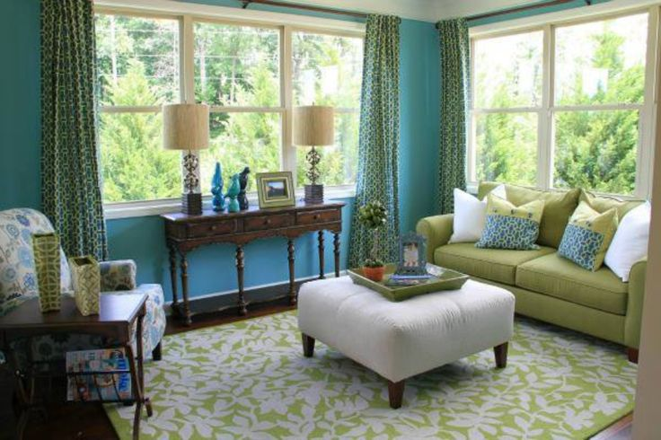 idea for sunroom decor a soothing color scheme