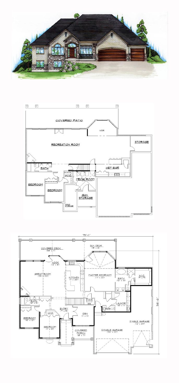 49 best hillside home plans images on pinterest house floor european house plan 79813
