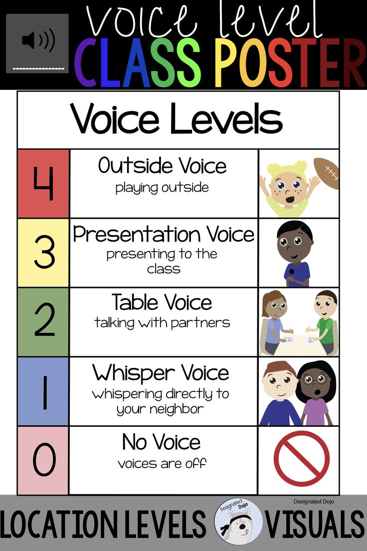 This voice level poster is a quick and easy way to