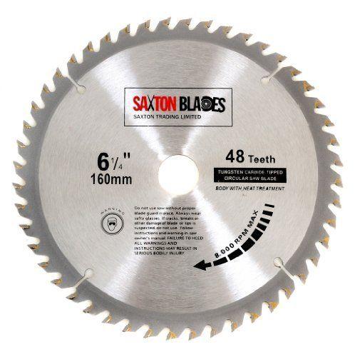 Saxton TCT Circular Wood Saw Blade 160mm x 20mm x 48T for Festool TS55 Bosch Makita etc Fits 165mm Saws No description (Barcode EAN = 5060268361744). http://www.comparestoreprices.co.uk/december-2016-3/saxton-tct-circular-wood-saw-blade-160mm-x-20mm-x-48t-for-festool-ts55-bosch-makita-etc-fits-165mm-saws.asp