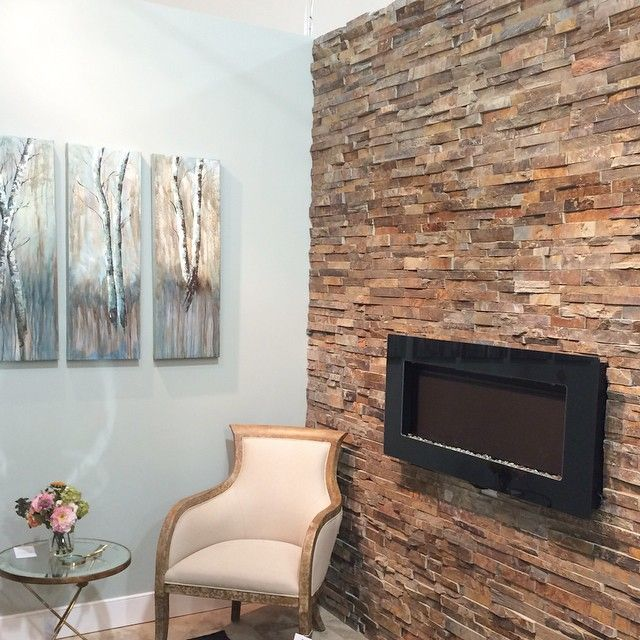 Shots from our new Alexandria Deign Center! #MosaicTile #Ledger #Slate #Fireplace #Design #Alexandria