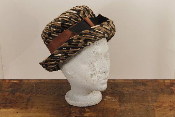 SALE:  25% OFF    Vintage Straw Hat Brown and by ClockworkRummage