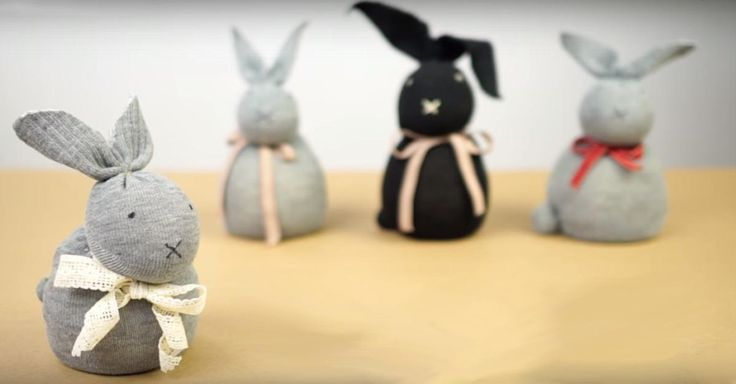 NapadyNavody.sk | Vyrobte si roztomilú veľkonočnú dekoráciu zo starej ponožky a ryže bez ihly a šitia