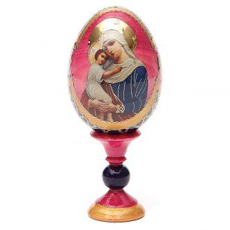Russian Egg Protectrice of the Fallen Fabergè style 13cm | online sales on…