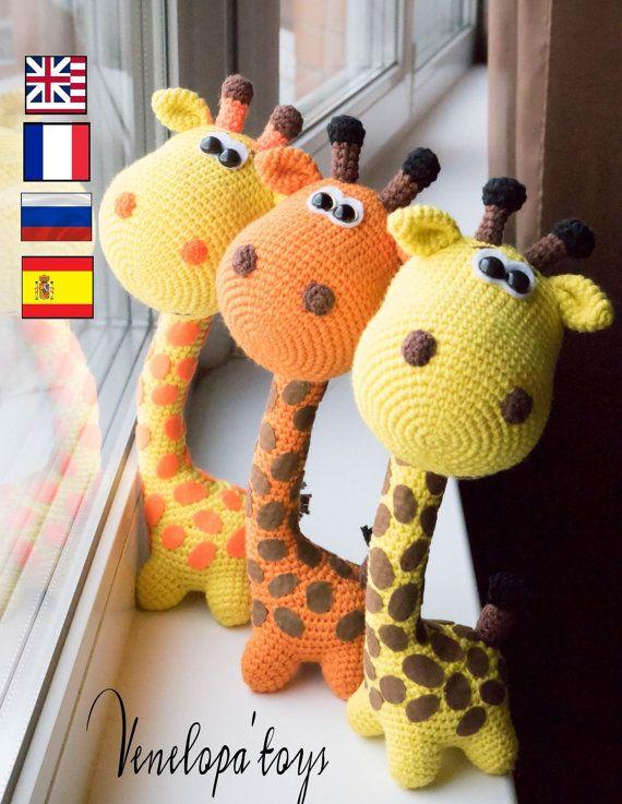 PATTERN Funny Giraffe amigurumi crochet crochet от VenelopaTOYS