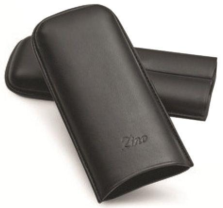 Zino Zigarren - Etuis - Lammleder - 2er  XL  schwarz (Zigarren Zubehör Zigarren-Etuis)