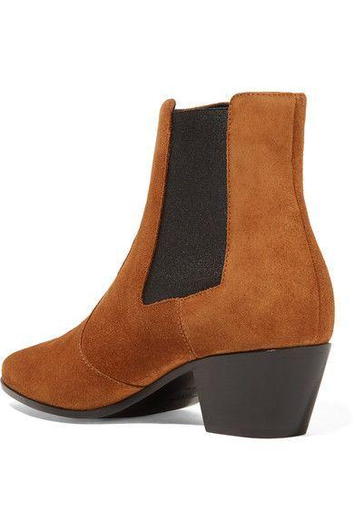 Saint Laurent - Rock Suede Chelsea Boots - Tan - IT36.5