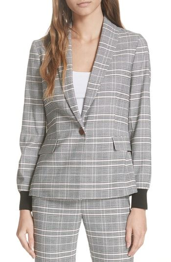 94758da9c4df3e New Ted Baker London Ted Working Title Kimm Contract Cuff Check Blazer  women s coats Jacket online.   379  newforbuy Fashion is a popular style
