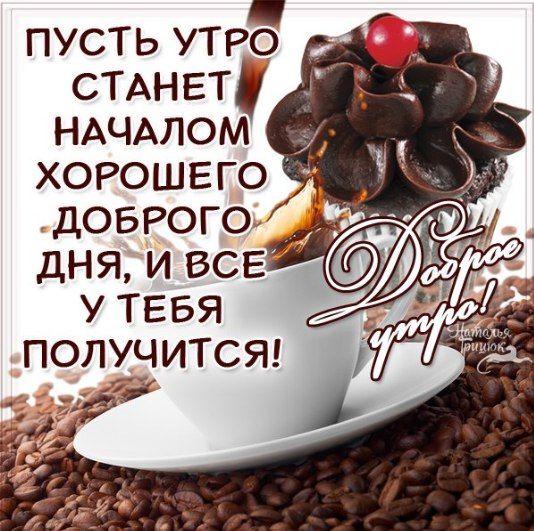 Анимация открытки с кофе