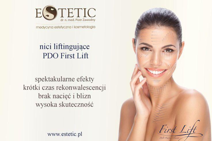Nici PDO First Lift powstały, jako alternatywna dla pacjentów, którzy nie oczekują efektu liftingu chirurgicznego i nie mają czasu na długi czas rekonwalescencji. Nici First Lift służą do rewitalizacji, poprawy struktury skóry twarzy, szyi i dekoltu, a także biustu, pośladków, brzucha czy nawet łokci i kolan!   Więcej informacji na stronie: www.estetic.pl