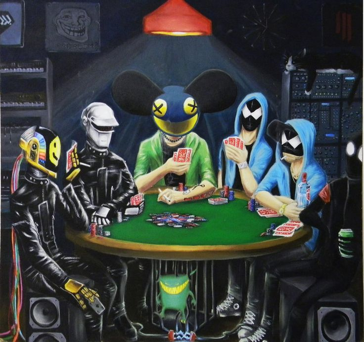 This would make an awesome canvas!  (Daft Punk / Deadmau5 / Bloody Beetroots / Danger)