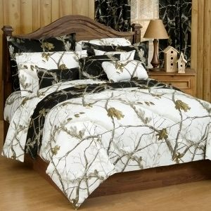 Realtree Snow Camo Bedding Set #realtree #camo #bedding