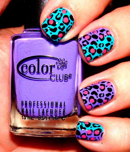love the colours!: Cheetahs Nails, Nailart, Bright Color, Animal Prints, Beauty, Leopards Nails, Nails Art Design, Cheetahs Prints, Leopards Prints Nails