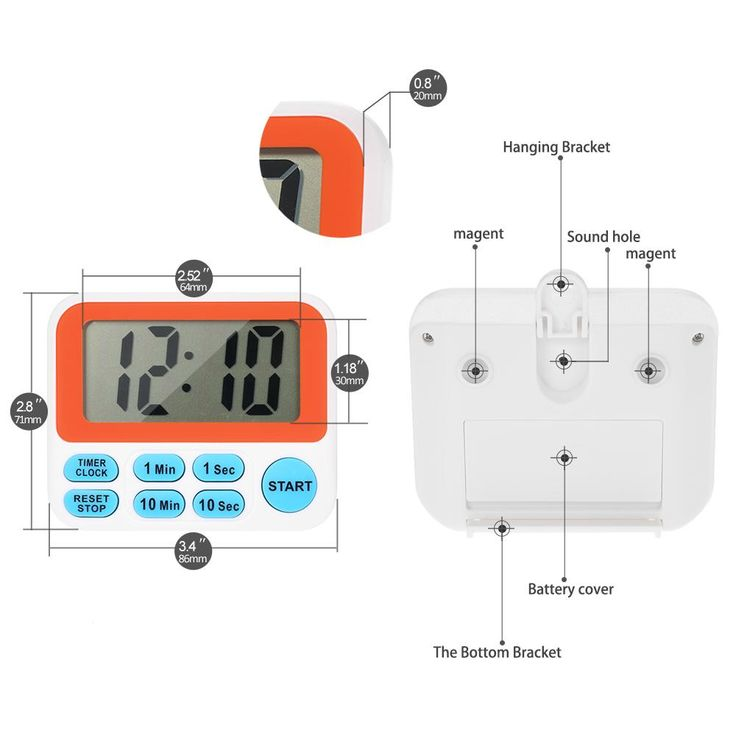 LCD Digital Cooking Timer Tools Kitchen Timer Countdown Timer Alarm Cl – Lucky Sourcing Group Online Shop