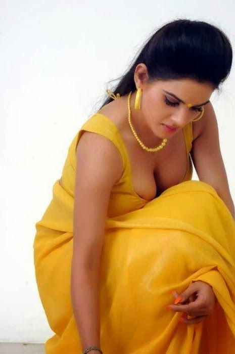 Stunning Kavya Singh Hot in yellow Saree striping Sexy Pics - Indian Stunning Actress