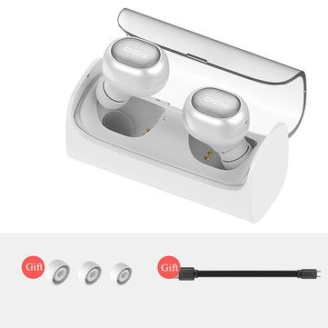 [True Wireless] QCY Q29 Mini Wireless Bluetooth 4.1 Double Dual Headphone Earphone With Charging Box Sale - Banggood.com