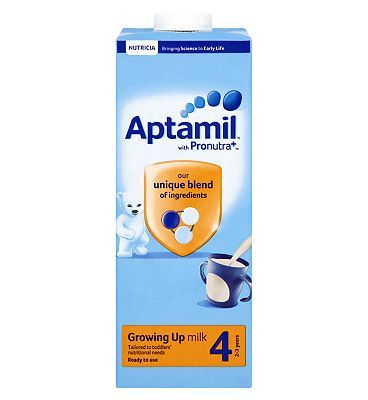 #Aptamil Growing Up Milk 4 2-3 Years 1 Litre #8 Advantage card points. Aptamil Growing Up Milk 4 2-3 Years 1 Litre contains a unique blend of ingredients and is an excellent source of vitamin D. FREE Delivery on orders over 45 GBP. (Barcode EAN=5051594002791)