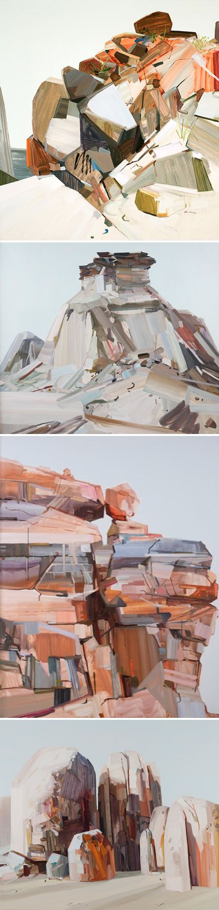 Paintings by Claire Sherman.