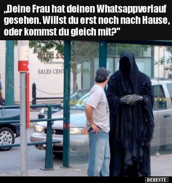 """""""Ihre Frau hat Ihre WhatsApp-Geschichte gesehen …"""""""