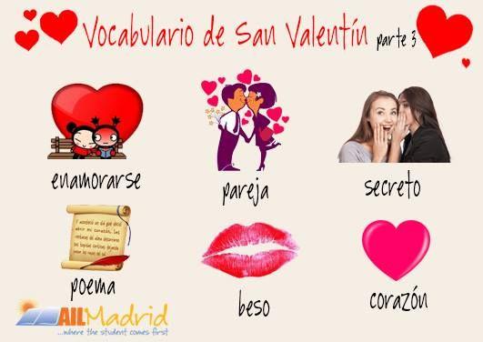 ¡Buen #SanValentín a todos! Aquí un poco más de vocabulario para ayudaros a hablar del amor.