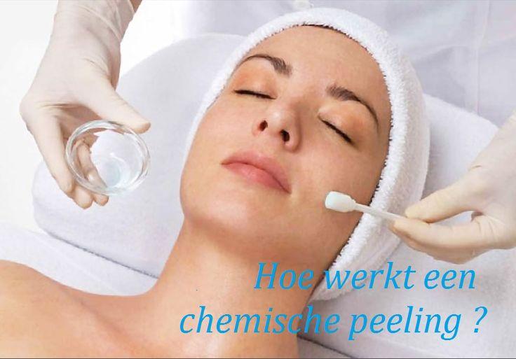 Hoe werkt een chemische peeling? De werking van een peeling is eigenlijk een gecontroleerde huidbeschadiging geven aan de huid waardoor deze geactiveerd wordt, zichzelf herstelt en in een betere conditie komt dan voor de behandeling.