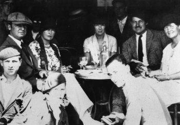 Gerald Murphy, Sara Murphy, Pauline Pfeiffer, Ernest Hemingway and Elizabeth Hadley Richardson, Pamplona, Spain, 1926
