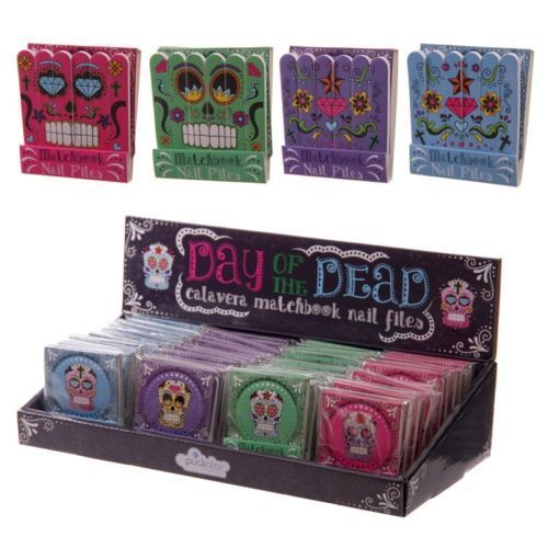 Shop today for Funky Nail File Matchbook - Candy Skulls Day of the Dead by weeabootique !