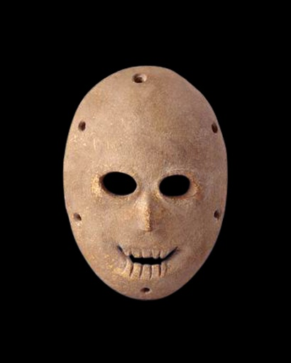 One of several Neo-lithic masks 7000 BC, found in the Judean desert, probably the oldest masks in the world. (The region is named after the Israelite tribe of Judah, which dominated the area through the Iron Age and established the Kingdom of Judah, which lasted until 586 BCE).
