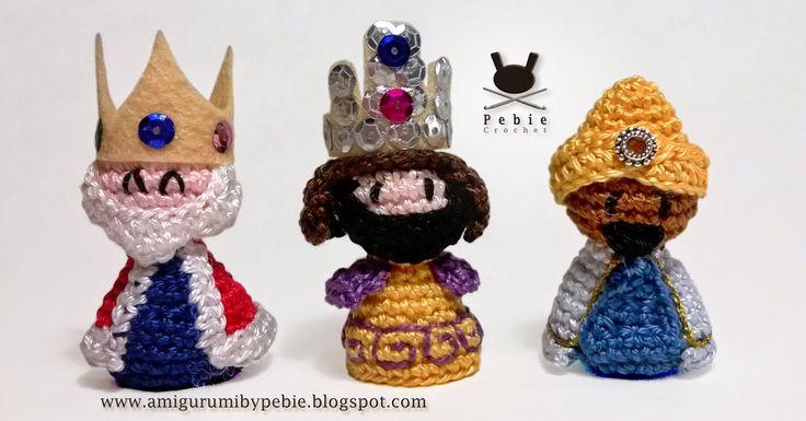 3 wise men part of nativity Free Crochet Pattern