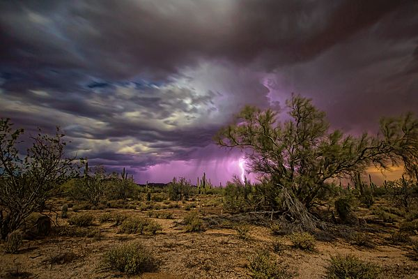 Image result for stormy desert night