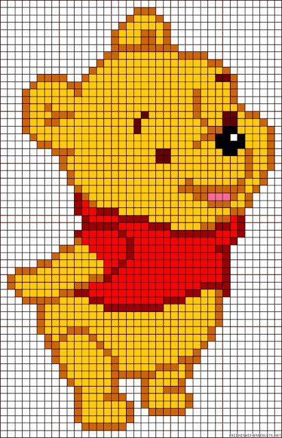 Baby Winnie the Pooh cross stitch.