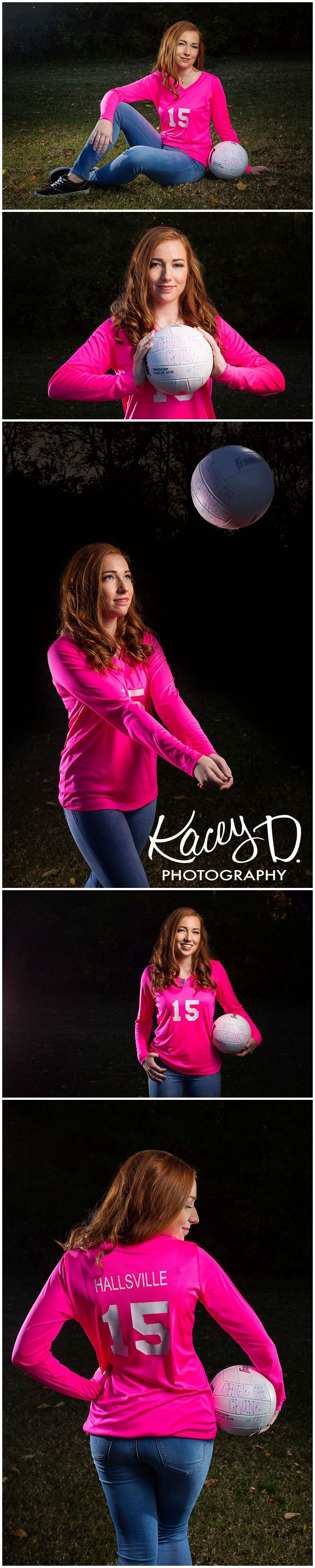 Volleyball Senior Picture Ideas - Photographer Columbia MO Kacey D Photography