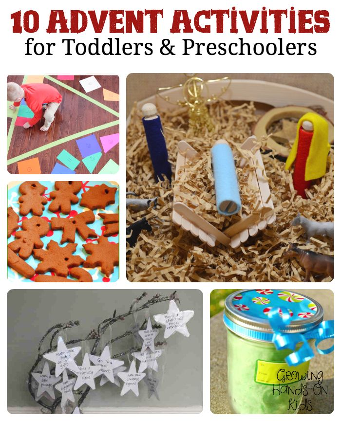 10 Advent Activities for toddlers and preschoolers.