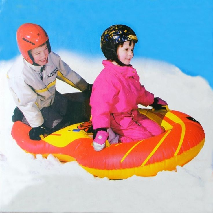 Marca Flexible Flyer Nieve Giro Inflatble Tubo Tubo de Deportes de Nieve Círculo de Giro para 2 persona Trineo de Esquí de invierno 2015 Nuevo Estilo